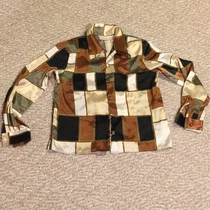 1970's vintage mod blouse